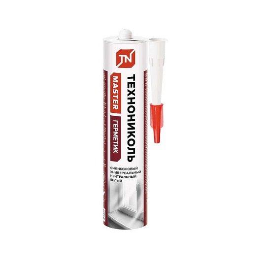 Купить Герметик Технониколь универсальный нейтральный силиконовый белый, 280мл в Нижнем Новгороде по выгодной цене